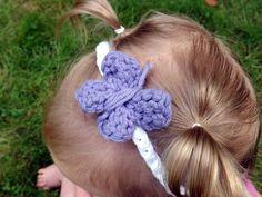 Purple Butterfly Baby Headband by AbigailsAttic112 on Etsy