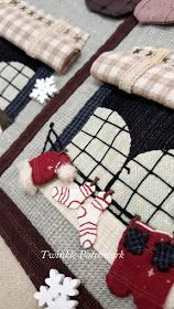 TWINKLE PATCHWORK: 24 DAYS TILL CHRISTMAS Wool Applique, Applique Patterns, Applique Quilts, Embroidery Applique, Cross Stitch Embroidery, Quilt Patterns, Machine Embroidery, Christmas Patchwork, Christmas Sewing