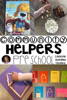 Community Helpers and Fire Safety Unit for Preschool - Kindergarten Rocks Resources Construction Theme Preschool, Preschool Themes, Kindergarten Activities, Preschool Activities, Preschool Classroom, Kindergarten Rocks, Space Activities, Preschool Projects, Construction Birthday