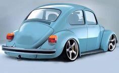 . Ferdinand Porsche, Fusca German Look, Custom Vw Bug, Vw Super Beetle, Hot Vw, Vw Classic, Vw Cars, Cute Cars, Vw Beetles