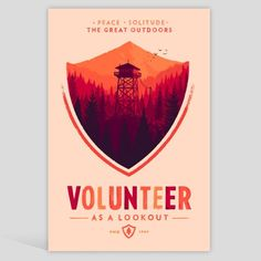 I like this.  Firewatch poster by Olly Moss