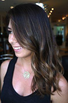 balayage cabello oscuro liso - Buscar con Google