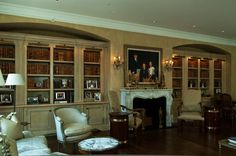 French Atlanta Living Room With A Cream Glaze. DESIGNER: Ginny Magher.