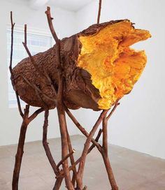 Giuseppe Penone Space of Light, 2012 12 m bronze cast (of a tree) lined with gold leaf.