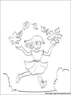 Coloriage de promenade d'automne a colorier | Coloriage à imprimer gratuit
