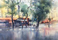 Direk Kingnok     Hanoi on a rainy day.
