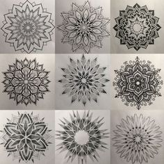 Mandala tattoo a çizimler , şablonlar татуировка мандала, эс Dotwork Tattoo Mandala, Geometric Mandala Tattoo, Mandala Flower Tattoos, Flower Mandala, Dot Work Mandala, Henna Mandala, Simple Mandala, Geometric Flower, Elbow Tattoos