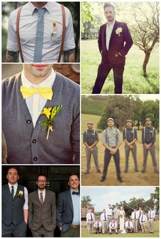 Bridal Style – How to Dress Your Groom and Groomsmen - lots of different styles and ideas for the boooyzz!
