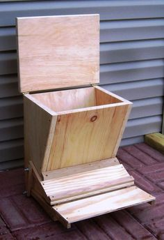 How to make a treadle chicken feeder.