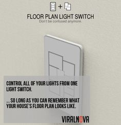 Floorplan light switch! no more labelling of the various switch