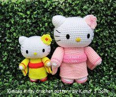 Kimono Kitty - New Pattern! ~ Amigurumi crochet patterns ~ K and J Dolls.