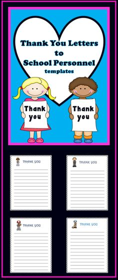 This product of thank you letter templates (19) comes to you just in time for your students to use the writing skills they have learned to write thank you letters to the school staff. This is such a fun activity for the students and it is especially nice for the staff who receive these letters showing them that they are appreciated! This is a wonderful activity for Thanksgiving, end of the school year or any time you want to show thanks to school staff!