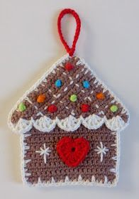 Voor de kerst, die in aantocht is, heb ik een leuk aantal patroontjes gevonden, die ik in de loop van de weken met jullie zal delen. Het... Gingerbread Decorations, Crochet Christmas Decorations, Crochet Decoration, Crochet Ornaments, Christmas Crochet Patterns, Holiday Crochet, Ornament Crafts, Christmas Knitting, Crochet Gifts