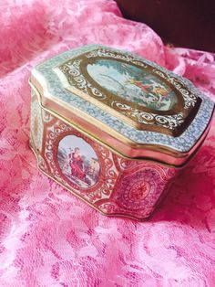 A personal favorite from my Etsy shop https://www.etsy.com/listing/244233935/victorian-tin-box-antique-box-tin-box