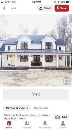 Dream house exterior, dream house plans, my dream home, styles of homes, White Farmhouse Exterior, Farmhouse Design, Modern Farmhouse Style, Farmhouse Decor, Dream House Exterior, Dream House Plans, My Dream Home, Home Renovation, Porches