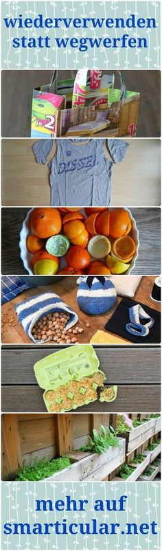 35 Dinge im Haushalt wiederverwenden statt wegwerfen Not everything that ends up in the bin is rubbish! From old clothes to newspaper, you can recycle a lot, save money and protect the environment! Belleza Diy, Old Clothes, Clothing Hacks, House Cleaning Tips, Clean House, Diy And Crafts, Life Hacks, Household, Diy Projects