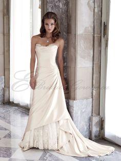 lace+and+satin+wedding+dresses   ... Satin Seamless Bodice Feminine Beaded Lace Sweetheart Wedding Dress