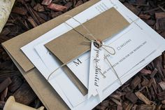 Organic Wedding Invitation Eco-Friendly Wedding by Shnabby on Etsy