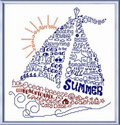 Lets Sail Into Summer cross stitch pattern designed by Ursula Michael.