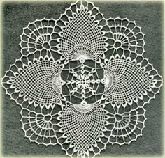 Free doily crochet patterns and vintage doilies. Free doily crochet patterns and vintage doilies. Crochet Coaster Pattern, Crochet Doily Patterns, Crochet Squares, Thread Crochet, Filet Crochet, Bird Patterns, Crochet Home, Diy Crochet, Crochet Crafts
