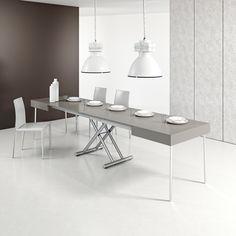 Tavolino trasformabile ASSIST cm 120×80 chiuso – cm 320×80 aperto. Allungabile a misure intermedie. Altezza regolabile al millimetro da 25 a 76 cm.