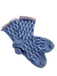 Doctor Who Tardis Socks - Childs shoe size 7-11 by Archaeopterknits on Etsy