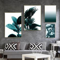 Posters And Prints Wall Art Canvas Painting Cuadros Beach Forest Wall Pictures F. - Gulten Gecgel - - Posters And Prints Wall Art Canvas Painting Cuadros Beach Forest Wall Pictures F. Wall Art Designs, Wall Design, Diy Design, Design Art, Room Wall Decor, Living Room Decor, Green Living Room Walls, Wall Art Bedroom, Living Rooms