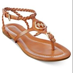 98d8d573bb Tommy Hilfiger brown leather sandal Brand NEW TH brown leather sandal with  gold logo. Size