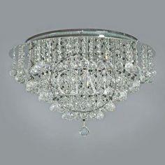 "ceiling mount chandelier | 20"" Luxema Ceiling Flush Mount Crystal Lighting Fixture Chandelier w ..."