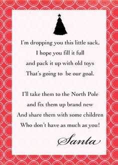 thecraftingchicks.com 1,500×2,100 pixels. Note to attach to Santa Sack, what a great way to teach children about giving!