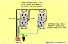parallel wiring two outlets in one box electric wire light rh pinterest com wiring an outlet and switch wiring an outlet with 4 wires