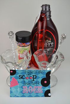 teacher appreciation ideas...here's the scoop, teachers rock. Fun and clever Teacher Appreciation gift for your child's teacher or for a staff.