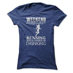 Weekend forecast T-Shirts, Hoodies. CHECK PRICE ==► https://www.sunfrog.com/Sports/Weekend-forecast-NavyBlue-56682725-Ladies.html?id=41382