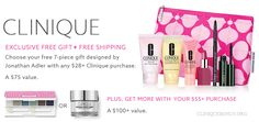 Spend $28 or $55 at Lord & Taylor and enjoy these Clinique freebies. http://cliniquebonus.org/clinique-bonus-time/ Now with a 15% discount.