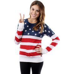 Women's American Flag Sweater by Tipsy Elves