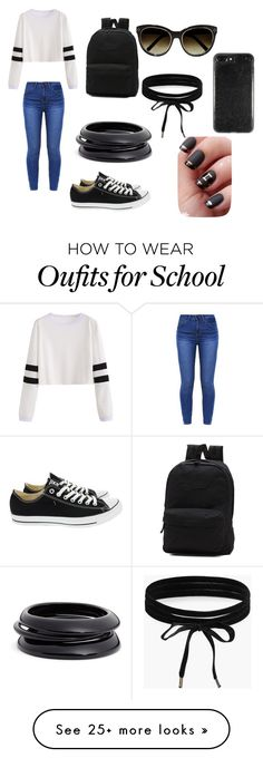 """school spirit"" by unicornme123 on Polyvore featuring Converse, Vans, Chloé, Boohoo and ZENZii"