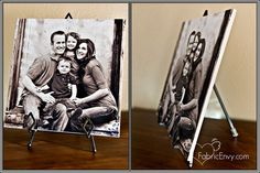 Simple enough, Photo tiles.. cheap but thoughtful gift...