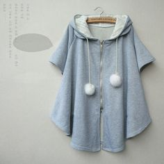 """Color: light gray. black. dark gray. Size:free size. Length:72 cm/28.08"""". Bust:112 cm/43.68"""". Fabric material: cotton. Tips: *Please double check above size and consider your measurements before ordering, thank you ^_^ more style,please visit: http://asiancute.storenvy.com"""