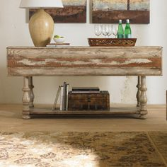 "Arden Console Table 31"" H x 66"" W x 45.5"" D $ 933.00"