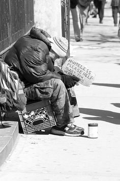 Homeless in Lincoln Square, NY by Ed Yourdon, via Flickr