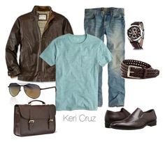 Men's Fashion by keri-cruz on Polyvore featuring moda, Superdry, J.Crew, American Eagle Outfitters, Mulberry, Stacy Adams and Cerruti 1881