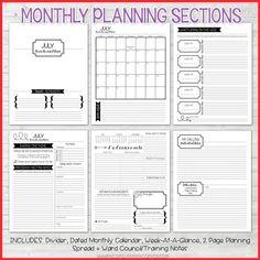 2018 Primary PRESIDENCY Planner PRINTABLE