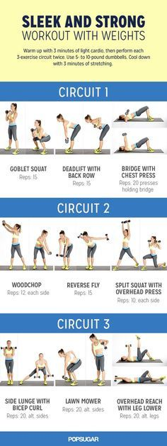 The circuit workouts are what you need to build muscles and boost your metabolism. Print this out and do it while watching TV!