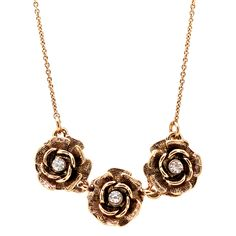 Lolita Jewelry Triple Rose Crystal Center Necklace - Overstock™ Shopping - The Best Prices on Necklaces