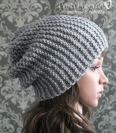 slouchy hat knitting pattern