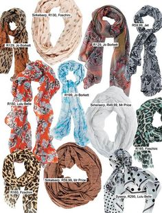 Scarves for summer #fashion | Serpe vir die somer