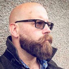 Bald Men With Beards, Bald With Beard, Great Beards, Awesome Beards, Beard Styles For Men, Hair And Beard Styles, Moustache, Barba Grande, Shaved Head With Beard