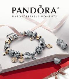 #Pandora #Valentine's Day bracelet charm collection