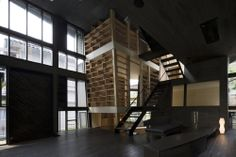 Pisopiso by Architects Atelier Ryo Abe - a view of the timber cage.
