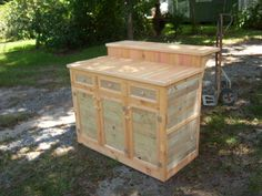 Do Not discard your old fence! Reclaimed re-purposed fence board island cabinet if you have 25 hours available! Plus time with bleach & a pressure washer! Reclaimed, Repurposed, Reused, Recycled
